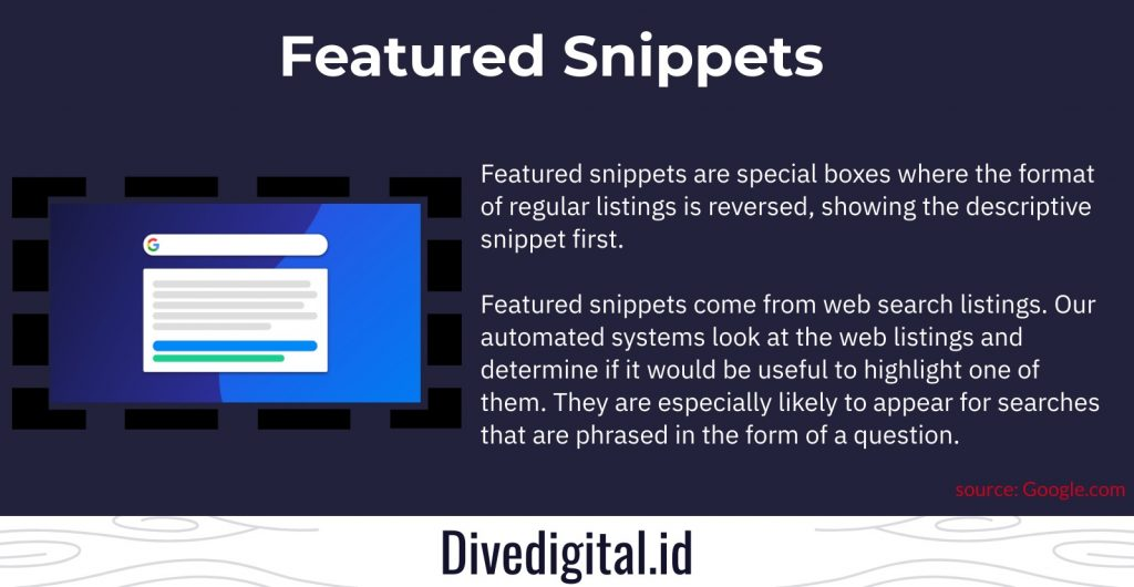 featured snippet adalah