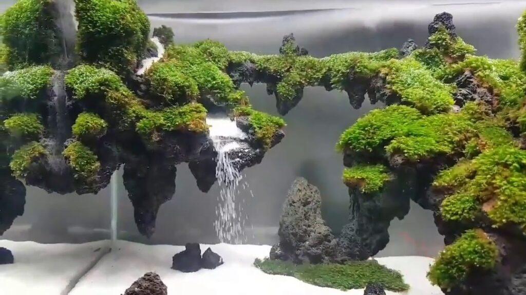 aquascape air terjun gantung