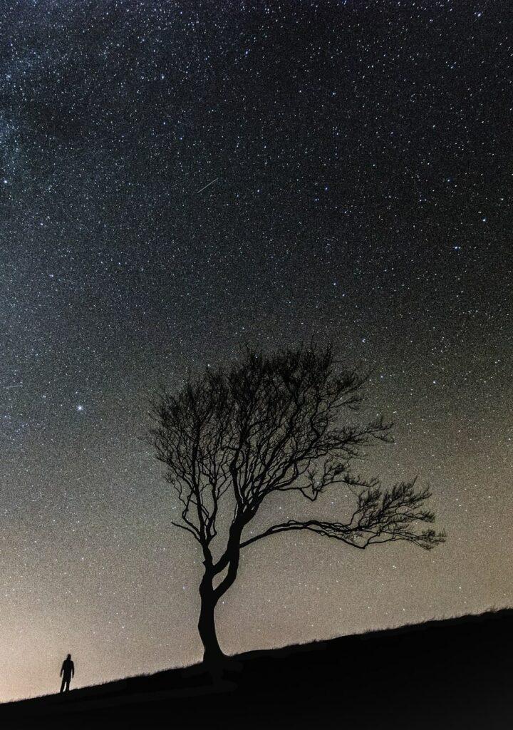 wallpaper bintang di malam hari