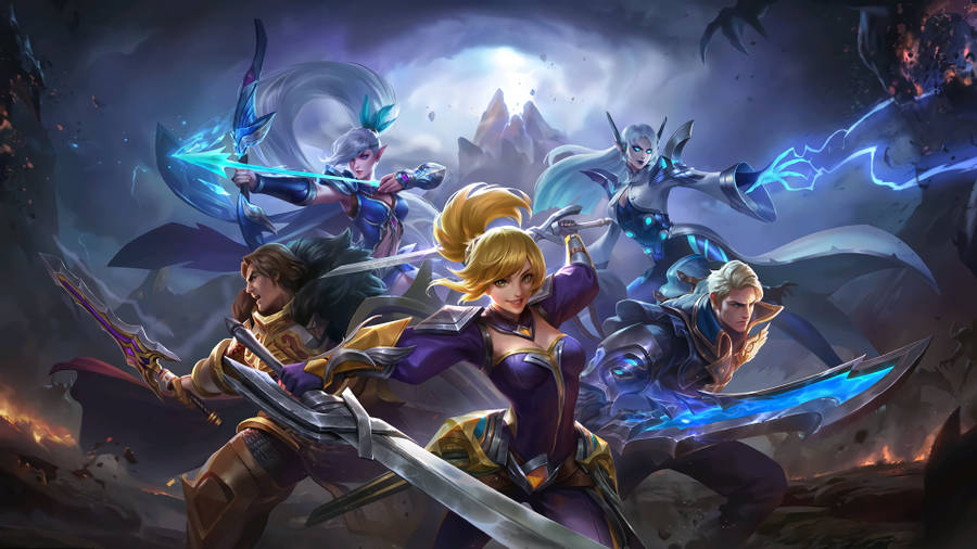 Baground dan Cover Hero Mobile Legends